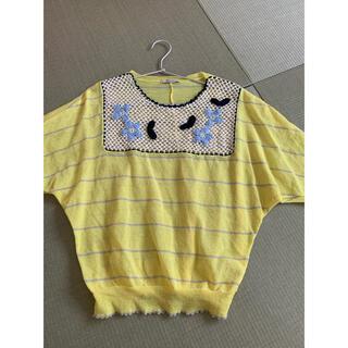 プードゥドゥ(POU DOU DOU)のプードゥドゥ ドルマン ニット 黄色(ニット/セーター)