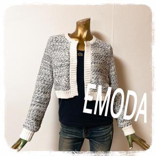 エモダ(EMODA)のEMODA ♥ 上品 ジャケット風 ショート ニット カーディガン(カーディガン)