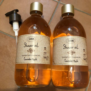 サボン(SABON)のサボン ラベンダーアップル  シャワーオイル 2点セット(ボディソープ/石鹸)