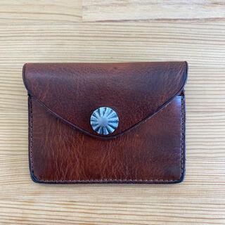 ダブルアールエル(RRL)のRRL  レザー コンチョ カードケース  新品 未使用 タグ付き 箱付き (折り財布)