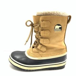 ソレル(SOREL)のソレル ブーツ 23 レディース - グレー×黒(ブーツ)