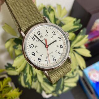 タイメックス(TIMEX)のTIMEX 腕時計 電池交換済  秒針赤 白文字盤 美品(腕時計(アナログ))