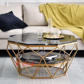高級大理石ローテーブル .センターテーブル テーブル 北欧風サイドテーブル コー(ローテーブル)