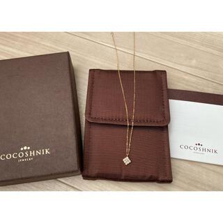 ココシュニック(COCOSHNIK)のココシュニック ネックレス ダイヤモンド スクエア K18 美品(ネックレス)