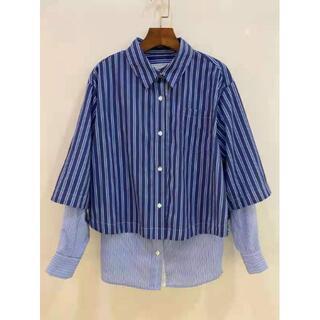 サカイ(sacai)のSacai サカイ シャツ/ブラウス 長袖 2点セット 縦縞 S(シャツ/ブラウス(長袖/七分))