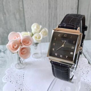 アガット(agete)の【美品】agete アガット 腕時計 スクエア ボーイズ ネイビー調(腕時計)