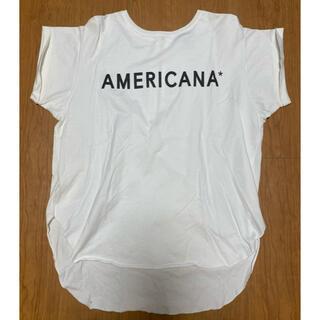 アメリカーナ(AMERICANA)の値下げしました。Americana❗️半袖カットソー、後ろジップ💕サイズフリー(カットソー(半袖/袖なし))
