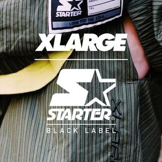 エクストララージ(XLARGE)のXLARGE×スターターブラックレーベル  セットアップ上(ナイロンジャケット)