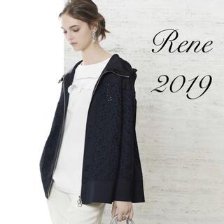 ルネ(René)の未使用 Rene♡ 2019年 DM掲載 フラワーレースフーディ(スプリングコート)