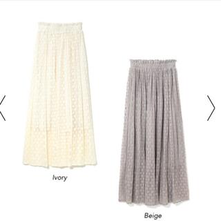 フラワー(flower)の限定価格!flower レーススウェイングスカート ivory 🌼(ロングスカート)