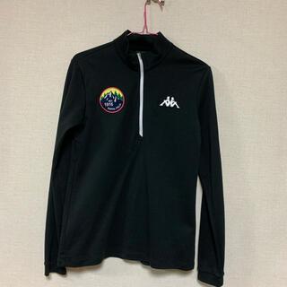 カッパ(Kappa)の【値引きします】カッパ ゴルフシャツ レディース 黒  L Lサイズ(ウエア)