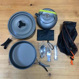 キャンプ クッカー キャンプ やかん ナイフ スプーンフォーク 鍋 屋外(調理器具)
