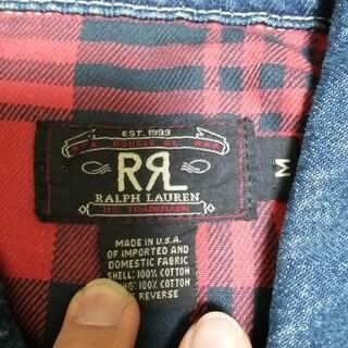 ダブルアールエル(RRL)の90s RRL usa製 2nd デニム Mサイズ 旧タグ(Gジャン/デニムジャケット)