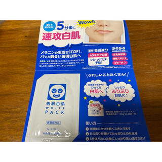 イシザワケンキュウジョ(石澤研究所)の☆透明白肌 薬用ホワイトパックN サンプル☆(パック/フェイスマスク)