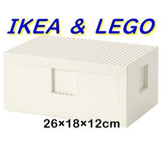 イケア(IKEA)のIKEA BYGGLEK レゴ ボックス ふた付き 26x18x12cm(積み木/ブロック)
