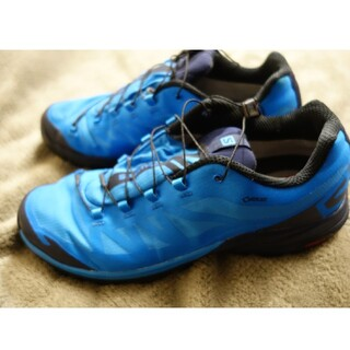 サロモン(SALOMON)のサロモン ハイキング シューズ  ゴアテックス 28cm ブルー(登山用品)