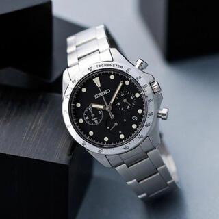 セイコー(SEIKO)のナノ・ユニバース クオーツクロノグラフブラック SEIKO ナノユニバース 時計(腕時計(アナログ))