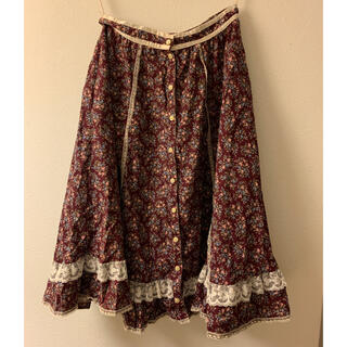 ガニーサックス(GUNNE SAX)のgunne sax 花柄スカート vintage ガニーサックス(ひざ丈ワンピース)