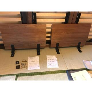 ムジルシリョウヒン(MUJI (無印良品))の【直接引渡し限定】無印良品 ベッド ヘッドボード クイーン スモールシングル2台(クイーンベッド)