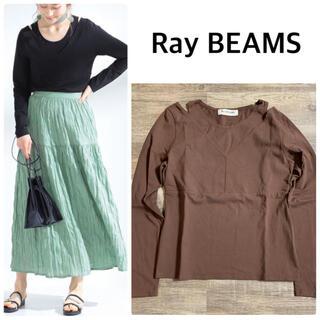 レイビームス(Ray BEAMS)の【Ray BEAMS】オープン ショルダー レイヤー Tシャツ(Tシャツ(長袖/七分))