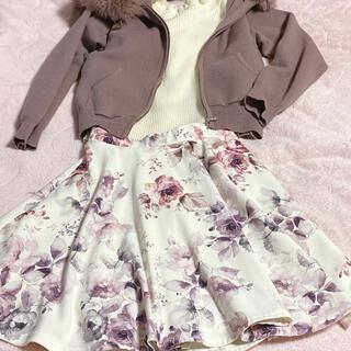 春スカート☆ピンクパープル(ミニスカート)