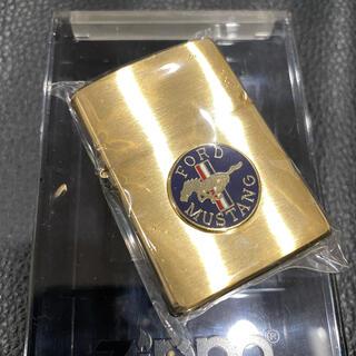 ジッポー(ZIPPO)の【ZIPPO】FORD MUSTANG フォード・マスタング ゴールド 箱付き(タバコグッズ)