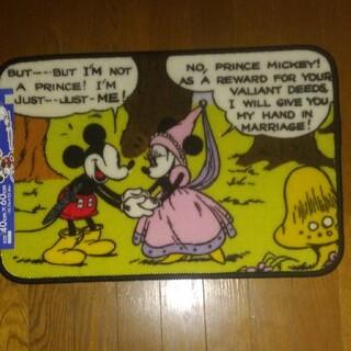 ディズニー(Disney)のディズニーミッキー&ミニーちゃんのマット新品未使用値下げ(玄関マット)