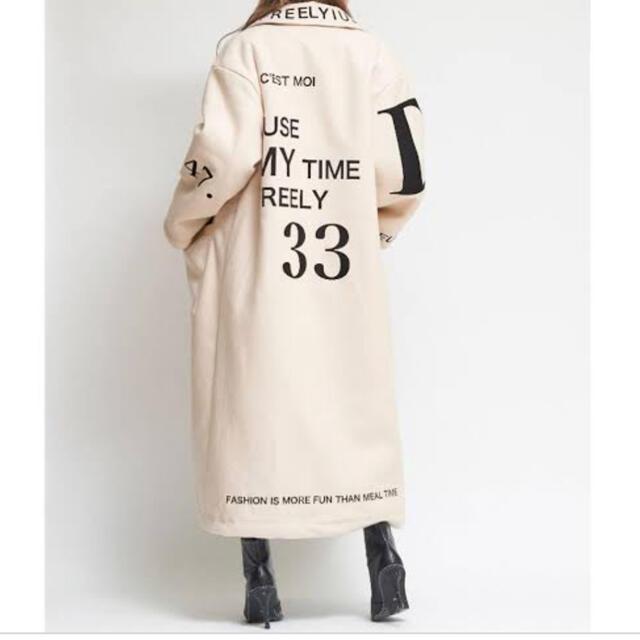 eimy istoire(エイミーイストワール)のdarichレタリングメルトンCT レディースのジャケット/アウター(ロングコート)の商品写真