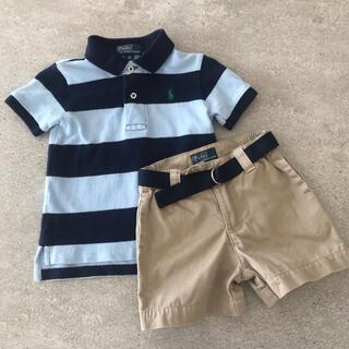 ポロラルフローレン(POLO RALPH LAUREN)のポロ ラルフローレン  2点セット ポロシャツ  パンツ 80サイズ(シャツ/カットソー)
