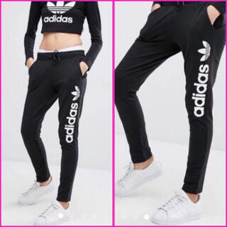 アディダス(adidas)の新品 タグ付✨adidas アディダス✨ロゴ スウェット パンツ UK8(スキニーパンツ)
