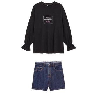 GU - GU キャンディスリーブチュニック&デニムショートパンツ【新品未使用】