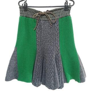 sacai luck - サカイラック スカート サイズ2 M - ひざ丈