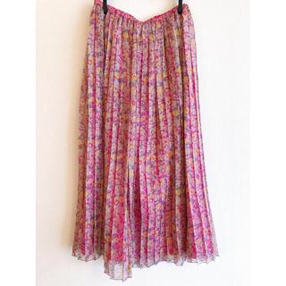 ドゥロワー(Drawer)のBLAMINK 花柄スカート(ロングスカート)