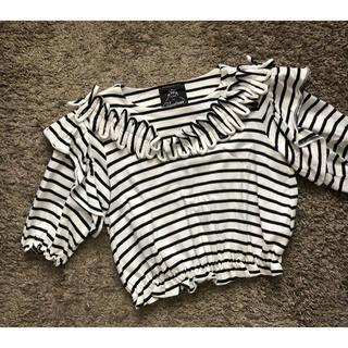 ベリーブレイン(Verybrain)のフリンジボーダーT(Tシャツ(半袖/袖なし))