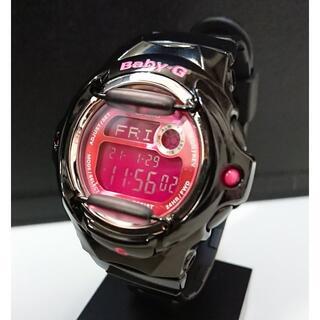 ベビージー(Baby-G)の8179 BABY-G レディース デジタル ブラック×ピンク BG-169R(腕時計)