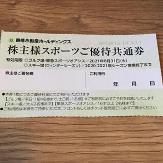 東急不動産 株主 スポーツ優待券 1枚 ニセコ ハンターマウンテン たんばら(その他)
