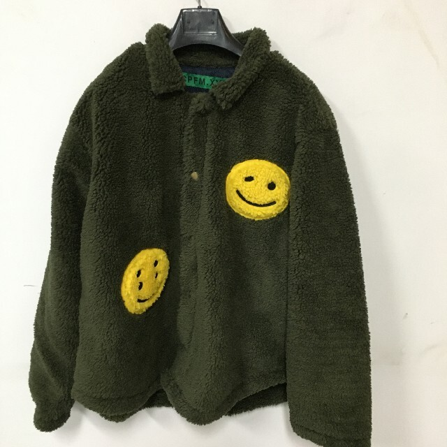 FEAR OF GOD(フィアオブゴッド)の19FW CPFM.XYZ HUMAN MADE ダブルスマイリー ワークシャツ メンズのジャケット/アウター(ブルゾン)の商品写真