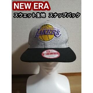 ニューエラー(NEW ERA)のロサンゼルスレイカーズ Lakers ニューエラ キャップ 帽子 野球帽 グレー(キャップ)