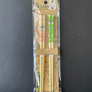 ジブリ(ジブリ)のとなりのトトロ 日本製 竹 安全 箸21cm「花」(カトラリー/箸)