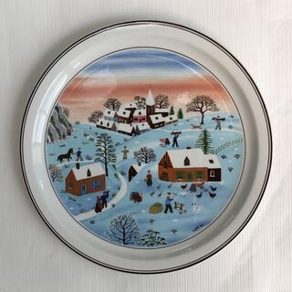 ビレロイアンドボッホ(ビレロイ&ボッホ)のビレロイ&ボッホ LAPLAU絵皿❄️冬(置物)