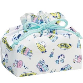 サンリオ(サンリオ)のランチ巾着 保冷 お弁当 巾着袋 キティ ハローキティ サンリオ (ランチボックス巾着)