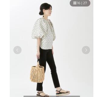 ツルバイマリコオイカワ(TSURU by Mariko Oikawa)のツルバイマリコオイカワ ドットボリューム袖ブラウス 2021ss新作 Maya(シャツ/ブラウス(長袖/七分))