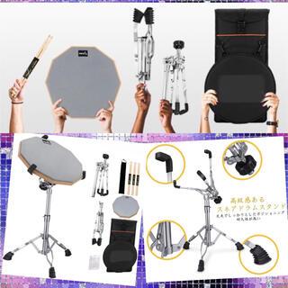 ドラムスティック6本含む豪華セット★パッドの叩き具合が本物に近く抜群の吸音性❤️(その他)