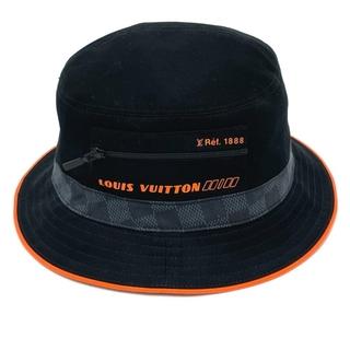 ルイヴィトン(LOUIS VUITTON)の美品 LV ルイヴィトン M73391 ボブ 帽子 ダミエ・コバルト ブラック(その他)