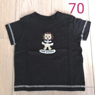 コムサデモード(COMME CA DU MODE)のCOMME CA DU MODE★半袖Tシャツ 70 黒(Tシャツ)