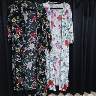 モエリー(MOERY)のモコアズ 花柄 シャツ 2枚セット(カットソー(長袖/七分))