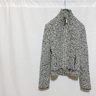 エムプルミエ(M-premier)の美品 M PREMIER エムプルミエ フルジップ ウールジャケット レディース(ブルゾン)