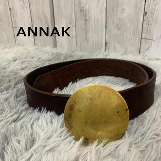 アナック(annak)の●美品●ANNAK アナック ベルト 茶色(ベルト)