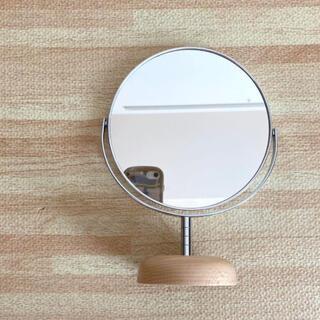 ムジルシリョウヒン(MUJI (無印良品))の◎丸型卓上ミラー◎(ドレッサー/鏡台)