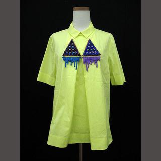 コス(COS)のコス COS ブラウス カットソー 装飾 半袖 36 黄 イエロー(シャツ/ブラウス(半袖/袖なし))